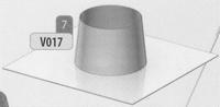 Dakplaat 0 graden volledig RVS diameter 080 mm  Ø80mm