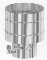 Kap: windwerende kap, diameter 80 mm  FU5 /p.stuk