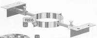 Steun: regelbare daksteun, diameter 80 mm  FU5 /p.stuk