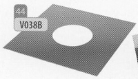 Afwerkingsplaat, diameter 230 mm  Ø230mm