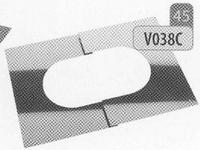 Afwerkingsplaat: regelbare afwerkingsplaat, diameter 230 mm  Ø230mm