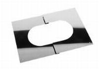 Afwerkingsplaat: regelbare afwerkingsplaat 30 - 45 graden  Ø100mm