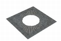 Afwerkingsplaat: geventileerde   Ø150mm