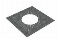 Afwerkingsplaat: luchtdichte afwerking 0-20 graden   Ø100mm