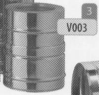 250 mm Element, diameter 130 mm  DW/p.stuk
