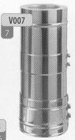 250 tot 480 mm Element (telescopisch), diameter 130 mm  DW/p.stuk