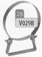 Beugel: muurbeugel (lichte uitvoering), diameter 130 mm  Ø130mm