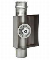 Element: waterdicht inspectieluik + rechthoekig verlengstuk  Ø125mm
