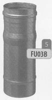 320 tot 480 mm Regelbaar element, diameter 130 mm  Ø130mm