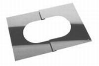 Afwerkingsplaat: regelbare afwerkingsplaat  Ø150mm
