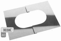 Afwerkingsplaat: regelbare afwerkingsplaat 30 - 45 graden  Ø130mm