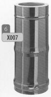 250 tot 480 mm Telescopisch element M/V  Ø80mm