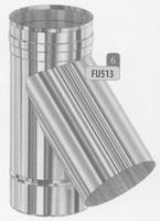 T-stuk 135 graden, diameter 80 mm  FU5 /p.stuk