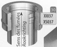 Aansluitstuk dubbelwandig naar enkelwandig, diameter 180 mm  Ø180mm