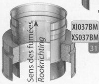 Aansluitstuk enkelwandig naar dubbelwandig, diameter 130 mm  Ø130mm