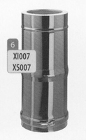 250-480 mm Speciaal element (telescopisch), diameter 250 mm  Tisend DW/pst