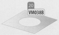 Afwerkingsplaat, diameter 140 mm  DWmammoet/p.st
