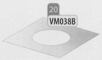 Afwerkingsplaat, diameter 180 mm  DWmammoet/p.st