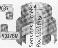 Aansluitstuk: enkelwandig naar dubbelwandig, diameter 180 mm  Ø180mm