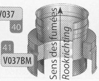 Aansluitstuk: enkelwandig naar dubbelwandig, diameter 200 mm  Ø200mm