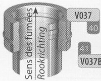 Aansluitstuk: dubbelwandig naar enkelwandig, diameter 250 mm  Ø250mm