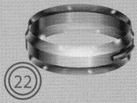 Band: klemband, diameter 080/125 mm  TWIN /p.stuk