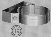 Beugel: gewone muurbeugel, diameter 080/125 mm  TWIN /p.stuk