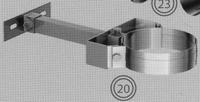 Beugel: regelbare muurbeugel, diameter 080/125 mm  TWIN /p.stuk
