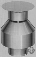 Afwerkingstuk: verticaal, diameter 130/200 mm  TWIN /p.stuk