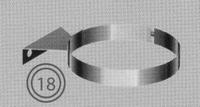 Beugel: economische muurbeugel, diameter 130/200 mm  TWIN /p.stuk