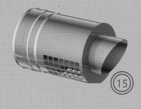 Afwerkingstuk: horizontaal, diameter 150/200 mm  TWIN /p.stuk
