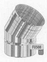 Bocht 30 graden, diameter 80 mm  FU5 /p.stuk