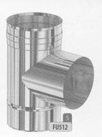 T-stuk 87 graden, diameter 80 mm  FU5 /p.stuk