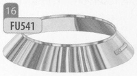 Kraag: stormkraag, diameter 80 mm  FU5 /p.stuk