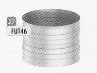 Aansluitmof beide zijden vrouwelijk, diameter 130 mm  Ø130mm