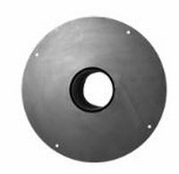 Aansluiting kachel/ Nisbus met ronde plaat  Ø130mm