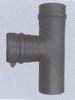 T-stuk: vertrek T-stuk voor pelletkachel, diameter 100 mm FU5N /p.stuk