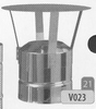 Kap: standaard regenkap, diameter 230 mm Ø230mm