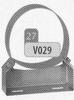 Beugel: gewone muurbeugel (50 mm), diameter 500 mm DW/p.stuk