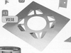 Brandseparatieplaat, diameter 600 mm DW/p.stuk