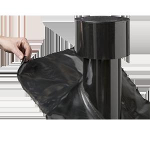 Voor restaurantkeukens: dakdoorvoer met pijp en kap  per stuk