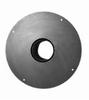 Aansluiting kachel-schouwpot (nisbus) met ronde plaat 175mm Ø180mm