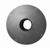 Aansluiting kachel/ Nisbus met ronde plaat Ø150mm
