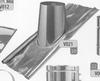 Dakplaat: 30-45 graden loden slab (pannen), diameter 130 mm Ø130mm