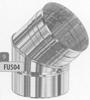 Bocht: 0-45 graden, oriënteerbare bocht, diameter 130 mm FU5 /p.stuk