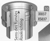 Aansluitstuk dubbelwandig naar enkelwandig, diameter 150 mm Titan DW/p.st.