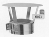 Kap: standaard regenkap, diameter 150 mm Ø150mm