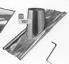 Dakplaat: 30-45 graden loden slab (pannen), diameter 200 mm DW/ p.stuk