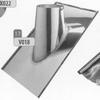 Dakplaat 30-45 graden volledig inox (leien), diameter 130 mm DW/ p.stuk