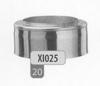 Eindstuk: konisch eindstuk, diameter 130 mm Titan DW/p.st.